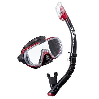 Tusa Unisex-Adult Visio TriEx Dry Mask Snorkel Combo Red