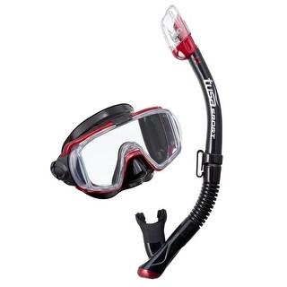 Tusa Unisex-Adult Visio TriEx Dry Mask Snorkel Combo Red