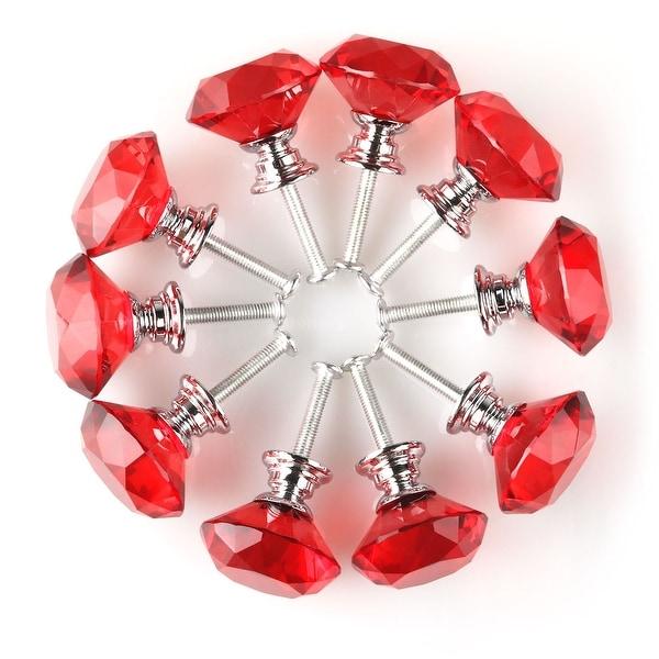 Red /& Black Pattern Drawer Pull Pack of 10 Dresser Knob Cabinet Pull