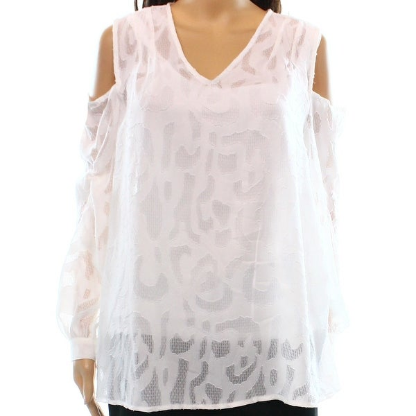8be6dd56f40 Shop Alfani Bright Womens V-Neck Cold Shoulder Blouse - Free Shipping On  Orders Over $45 - Overstock.com - 26915469