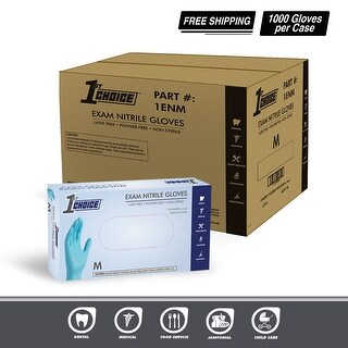 1st Choice Indigo Nitrile Exam Latex Free Disposable Gloves