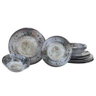 Link to 12pc Brown and Blue Radiance Outdoor Dinnerware Set Similar Items in Dinnerware