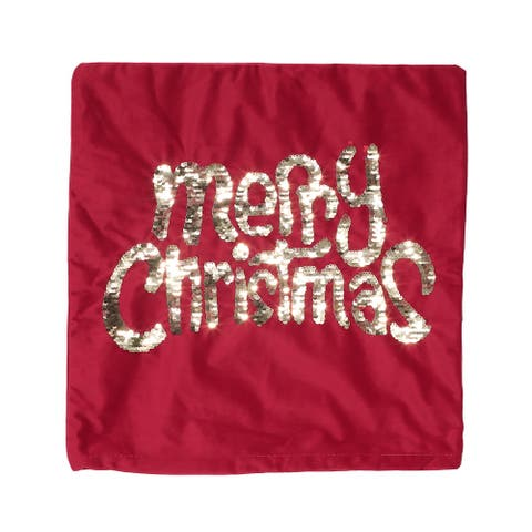 Tigue Glam Velvet Christmas Throw Pillow Cover by Christopher Knight Home
