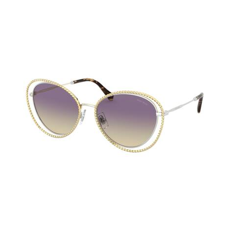 Miu Miu MU 59VS 09D09B 54 Silver/gold Woman Butterfly Sunglasses - Silver / Gold - Silver / Gold