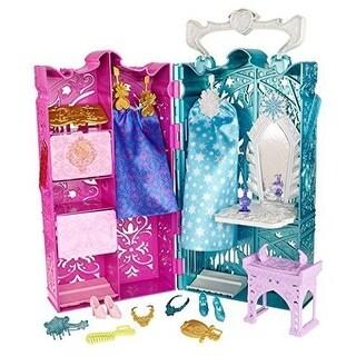 Mattel DisneyFrozen Anna & Elsa DOLL PLAYSET, 10 RoyalAccessories Closet PLAYSET