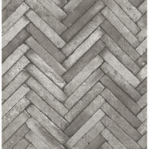Arrow Dark Grey Diagonal Slate Wallpaper - 20.5in x 396in x 0.025in
