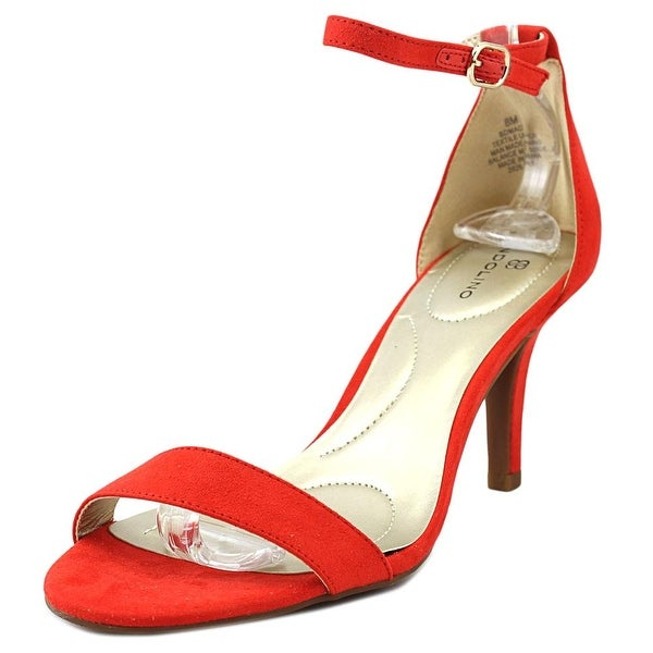 Bandolino Madia Women Open Toe Canvas Red Sandals