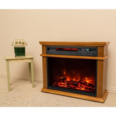 Lifesmart Extra Large Mantle Fireplace with Remote - N/A