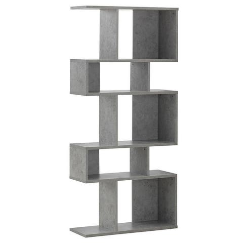 5 Cubes Ladder Shelf Corner Bookshelf Display Rack Bookcase