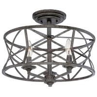 "Millennium Lighting 2173 Lakewood 3-Light 16"" Wide Semi-Flush Ceiling Fixture - N/A"