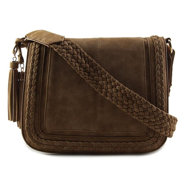 Violet Ray Kourtney Crossbody Synthetic Messenger - Brown
