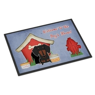 Carolines Treasures BB2886JMAT Dog House Collection Dachshund Black Tan Indoor or Outdoor Mat 24 x 0.25 x 36 in.