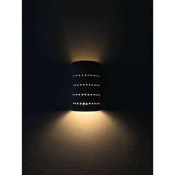 Justice Design Group One Light Cactus Cylinder Bisque Outdoor Wall Sconce Free Shipping Today 7846403