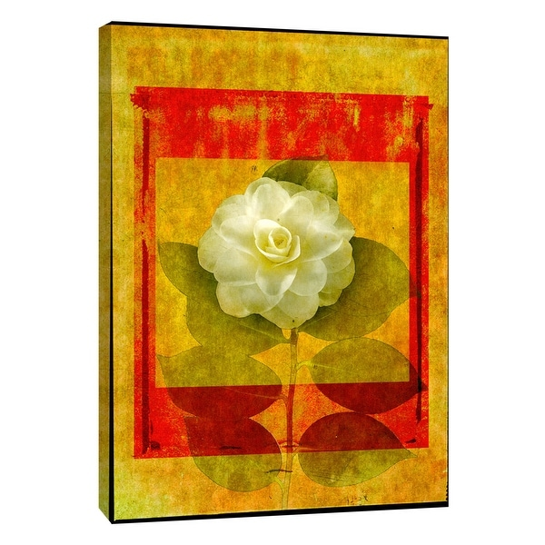 "PTM Images 9-108630 PTM Canvas Collection 10"" x 8"" - ""Camellia"" Giclee Roses Art Print on Canvas"