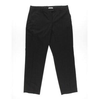 BOSS Hugo Boss Womens Tegy Dress Pants Wool Blend Flat Front