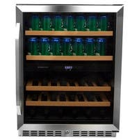 EdgeStar CWB8420DZ 24 Inch Wide Wine and Beverage Cooler with Dual Zone Operation