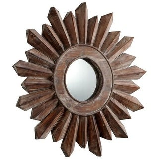 Cyan Design Small Excalibur Mirror 7 Inch Diameter Excalibur Wood Mirror