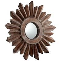 Cyan Design Small Excalibur Mirror 7 Inch Diameter Excalibur Wood Mirror