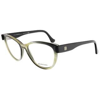 Balenciaga BA5004/V 064 Yellow Black Horn Oval prescription-eyewear-frames