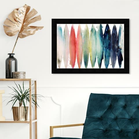 Oliver Gal 'Paradise Found Bright' Abstract Wall Art Framed Print Watercolor - Blue, White