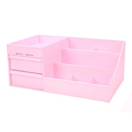 Drawer Type Organizer Cosmetic Storage Box 3014 S Pink