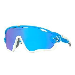 cheap mens oakley sunglasses stl7  Oakley JawBreaker OO9290-02 Sky Blue/White Sapphire Iridium Shield  Sunglasses