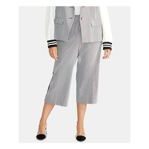RACHEL ROY Womens Navy Striped Wear to Work Pants Size 24W