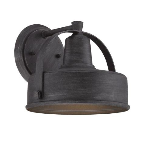 "Designers Fountain 33131 Portland-DS 9"" Width 1 Light Dark Sky Outdoor Lantern Wall Sconce"