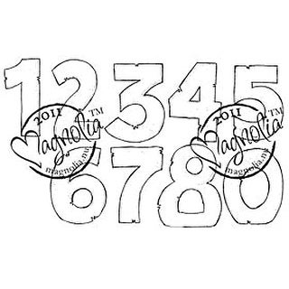 """Princes & Princesses Cling Stamp 6.5""""X3.5"""" Package-Numbers"""