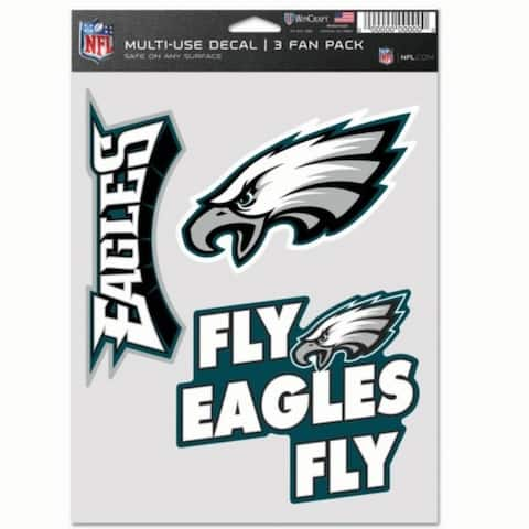 Philadelphia Eagles Decal Multi Use Fan 3 Pack - As Pictured