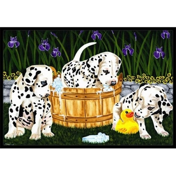 Carolines Treasures AMB1320MAT Pass the Soap Dalmatian Indoor or Outdoor Mat 18 x 27