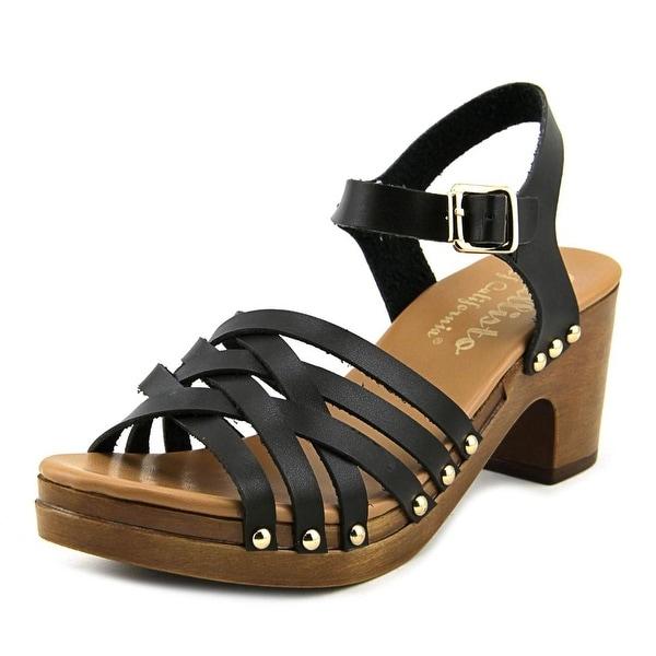 Callisto Devone Strap Women Black Sandals