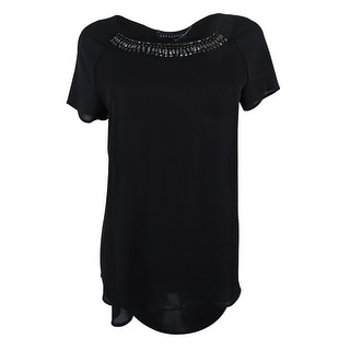 Sanctuary Women's Short Sleeve Embellished Top - m