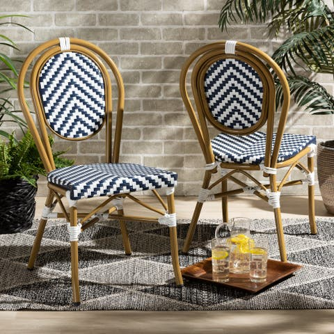 Alaire Classic French Stackable Bamboo Bistro Dining Chair (Set of 2)