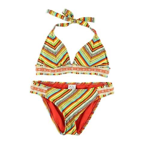 Lucky Brand Womens Santiago Side Tab 2 Piece Bikini