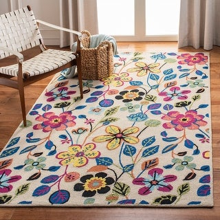 Link to Safavieh Handmade Four Seasons Meghan Floral Rug Similar Items in French Country Rugs