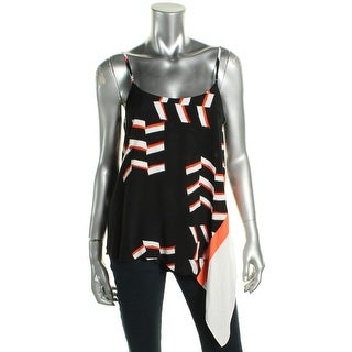 Rachel Rachel Roy Womens Camisole Top Printed Asymmetric - s