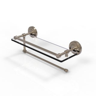 Allied Brass Prestige Regal Collection Paper Towel Holder with Gallery Glass Shelf