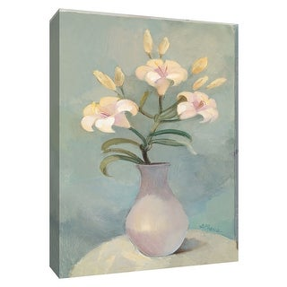 """PTM Images 9-154654  PTM Canvas Collection 10"""" x 8"""" - """"Pale Lilies"""" Giclee Lilies Art Print on Canvas"""