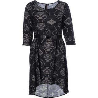 Trixxi Womens Plus Printed Hi-Low Casual Dress - 2X