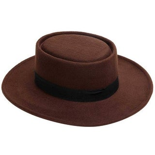 Mad Style Brown Felt Flamenco Hat