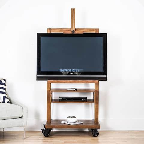 Posh Pollen Cullen Deco-Walnut TV Media Entertainment Stand