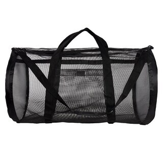 Dive Bag - Heavy Duty Mesh Duffel Bag, Features Storage Pouch for Diving, Scuba, Snorkel, Swim, Surf