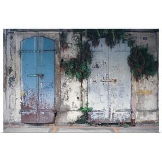 """""""Blue door facade"""" Poster Print"""