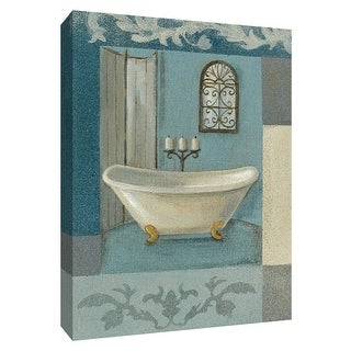 """PTM Images 9-154268  PTM Canvas Collection 10"""" x 8"""" - """"Antique Bath I"""" Giclee Tubs Art Print on Canvas"""