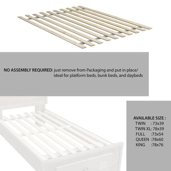 Diy Bathroom Shelf Ideas, Shop Onetan 0 75 Inch Heavy Duty Vertical Wooden Mattress Support Bed Slats Bunkie Board Overstock 30871348