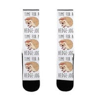 LookHUMAN Time For A Hedge Jog US Size 7-13 Socks