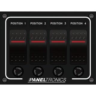 Paneltronics DC 4 Position Illuminated Rocker Switch - 9960011B