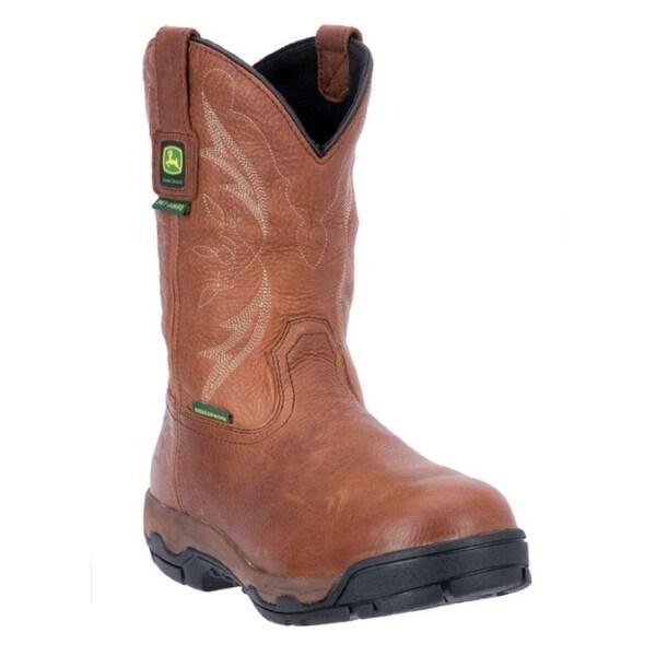 """John Deere Work Boots Mens 11"""" Waterproof AT Met Soggy"""