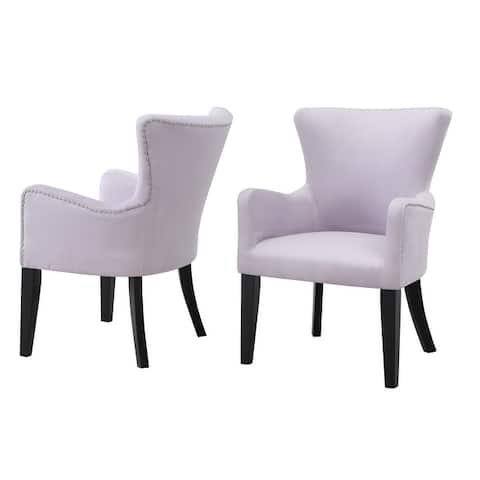 Silver Orchid Flohr Velvet Arm Chair